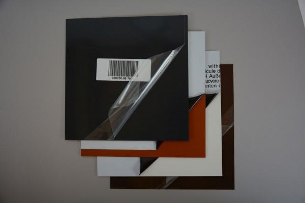Alu Zuschnitt, Größe: 200 x 200 x 0.8 mm, verschiedene Farben - 1