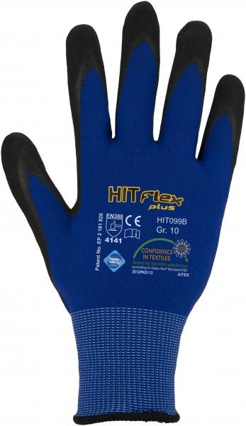 Nitril-Mikroschaum-Handschuhe, blau, Beschichtung besonders atmungsaktiv, Größe 6 - 12 - 1