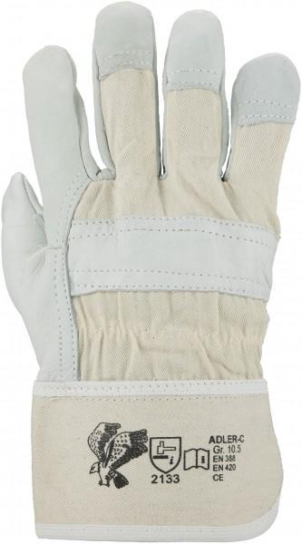 Rindnarbenleder-Handschuh, Größe 10,5, gefüttert, Stulpe - 1
