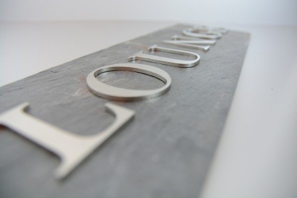 ca. 11 cm Edelstahl Buchstabe, Zahl, Sonderzeichen - 1