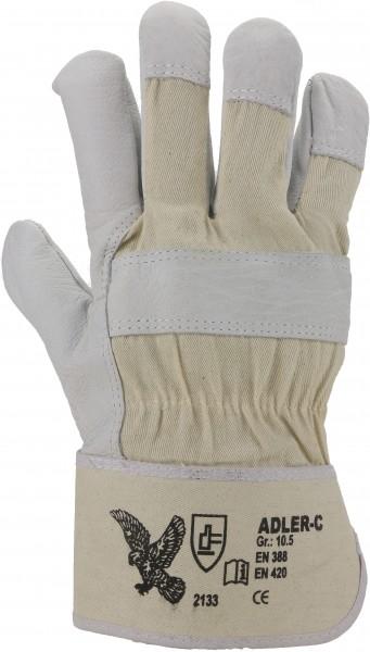 Rindnarbenleder-Handschuh, Größe 12, gefüttert, Stulpe - 1