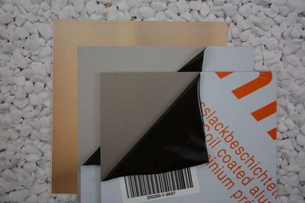 Alu Zuschnitt, Größe: 300 x 300 x 1 mm, verschiedene Farben - 1