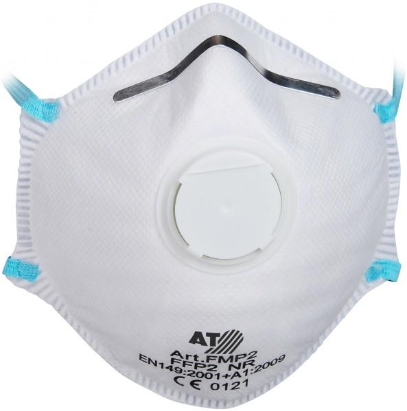 Feinstaubmaske FFP2 NR D, 15 Stück, Ausatemventil, PSA, Kat. III - 1
